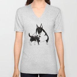 Miniature Bull Terrier Unisex V-Neck