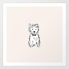 Milo the dog Art Print
