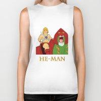he man Biker Tanks featuring He-Man by Dano77