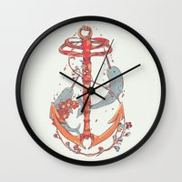 under the sea Wall Clocks featuring Under The Sea by Huebucket