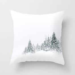 Beautiful snowy winter landscape Throw Pillow