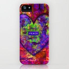 HEARTFUL OF PEACE iPhone Case