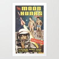 Moon Hunks Movie Poster Art Print