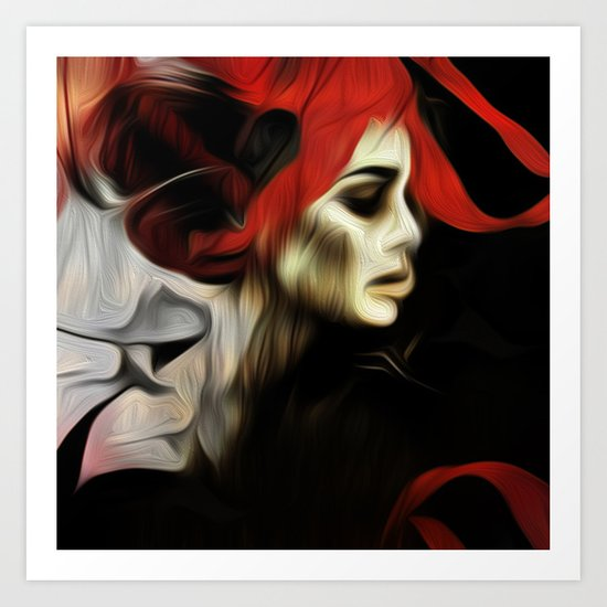 portrait of sadness Art Print