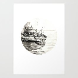 GHOST SHIP II Art Print