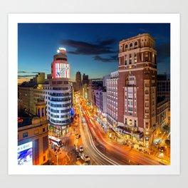 Plaza Del Callao (Spain) Art Print