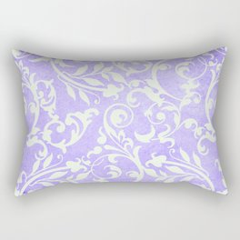 Shabby Chic purple damask Rectangular Pillow