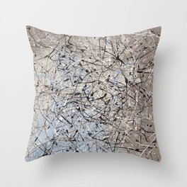 High Again - Jackson Pollock style abstract drip painting by Rasko Throw Pillow