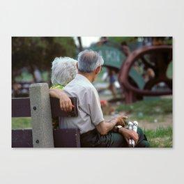 Street Scenes - Seniors Canvas Print