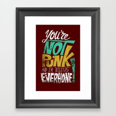 Not Punk Framed Art Print