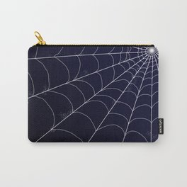 Spiderweb on Midnight Carry-All Pouch