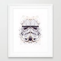 stormtrooper Framed Art Prints featuring stormtrooper by yoaz