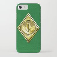 power ranger iPhone & iPod Cases featuring Green Ranger by Joshua Epling