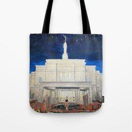 Snowflake Arizona LDS Temple Tote Bag