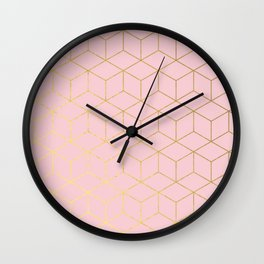 Elevated glam - millennial pink Wall Clock