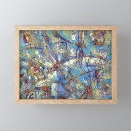 Dragonflies in blue Framed Mini Art Print