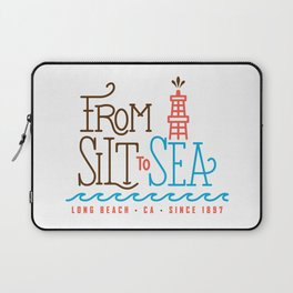 From Silt to Sea | Long Beach California Tribute | From Oil Workers to Surfers Laptop Sleeve