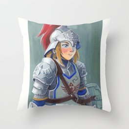 Knight of the Wild Throw Pillow
