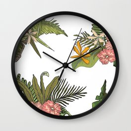 Palm Bouquets Wall Clock