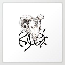 Lucifer's Lil' Baphomet Art Print