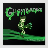 ghostbusters Canvas Prints featuring Ghostbusters by Glopesfirestar