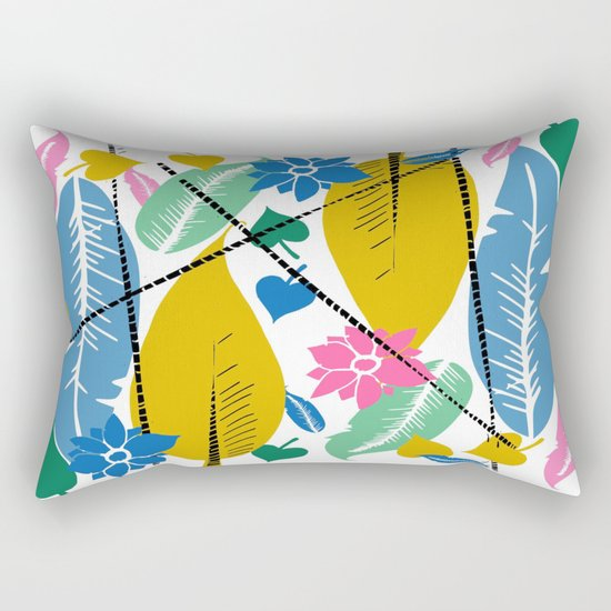 Feathers and leafs Rectangular Pillow