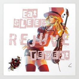 Vagenda - Eat Sleep Rejuve Repeat v1 Art Print