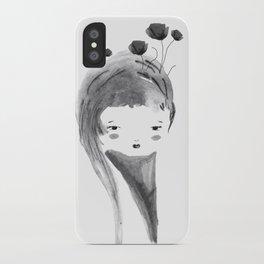 Dark Poppies iPhone Case