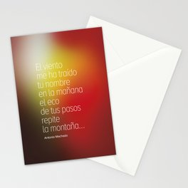 Poetry #2 Antonio Machado Stationery Cards