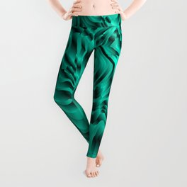 Blurry interweaving of light blue spots from the bright flowing lava and colored symmetrical blots. Leggings