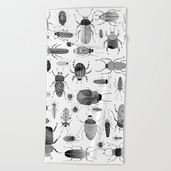 Ink Beetles Beach Towel