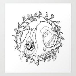 oregano wreath Art Print