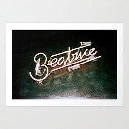 Beatrice in Neon Art Print