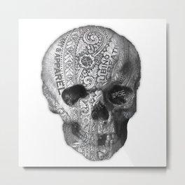 Rubino Metal Skull Metal Print
