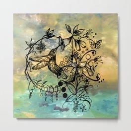 Abstract Painting HUMMINGBIRD V Metal Print