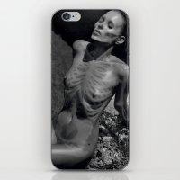 kate moss iPhone & iPod Skins featuring Skeleton Kate Moss by saraaangel
