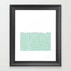 Half Knit Mint Framed Art Print