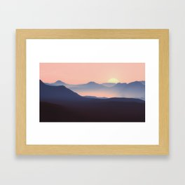 Mountain View Serenity Sunset Framed Art Print