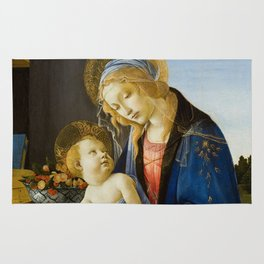 "Sandro Botticelli ""Madonna of the Book"" Rug"