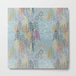 A Rainy Wood Metal Print