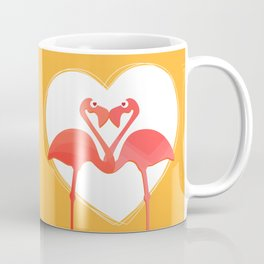 lovebirds - flamingos in love Coffee Mug