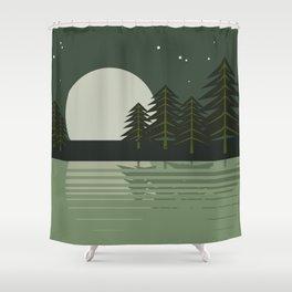 Skeleton Trees Shower Curtain