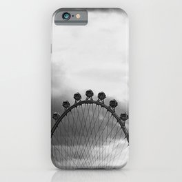 Back Side of the Link // London Eye Replica in Las Vegas Nevada City Strip Raw Landscape iPhone Case