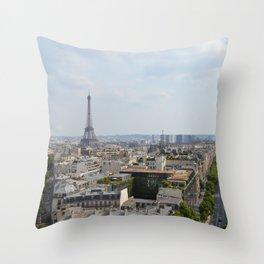 Views of Paris Throw Pillow