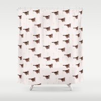 sparrow Shower Curtains featuring Sparrow by Fine Cut
