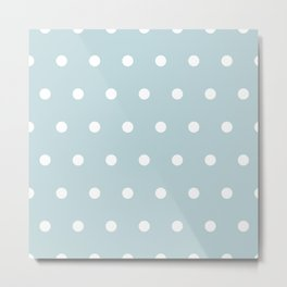 Small White Dots on BBLue Metal Print
