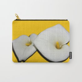 calla lily pair on gold Carry-All Pouch