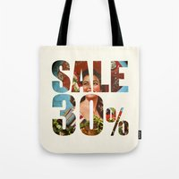 sale Tote Bags featuring Sale by Gerko