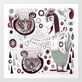The Bird Lady Cometh Art Print