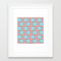 whales Framed Art Prints featuring Whales by bylosangeles